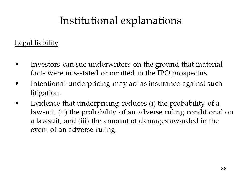 Institutional explanations