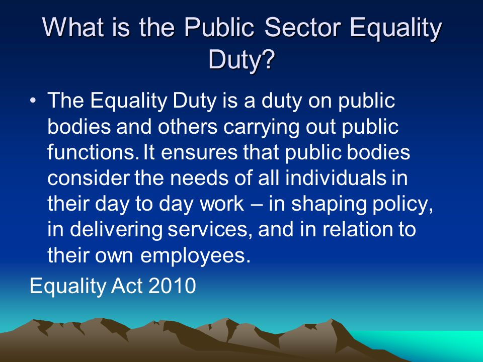 What is the Public Sector Equality Duty