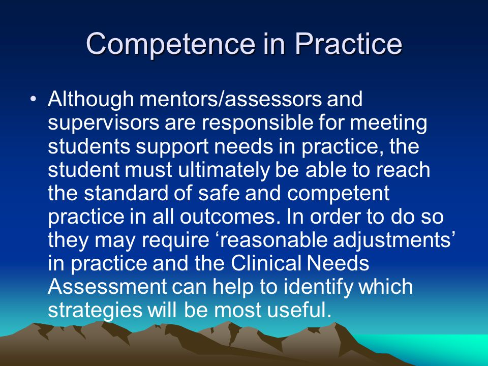 Competence in Practice