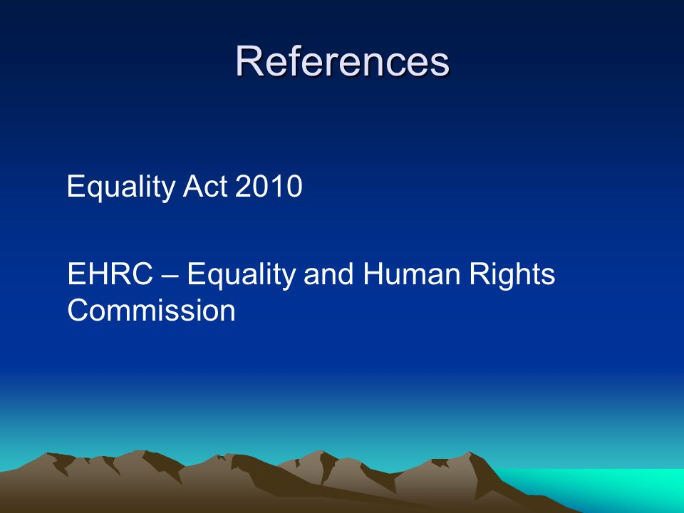 References Equality Act 2010