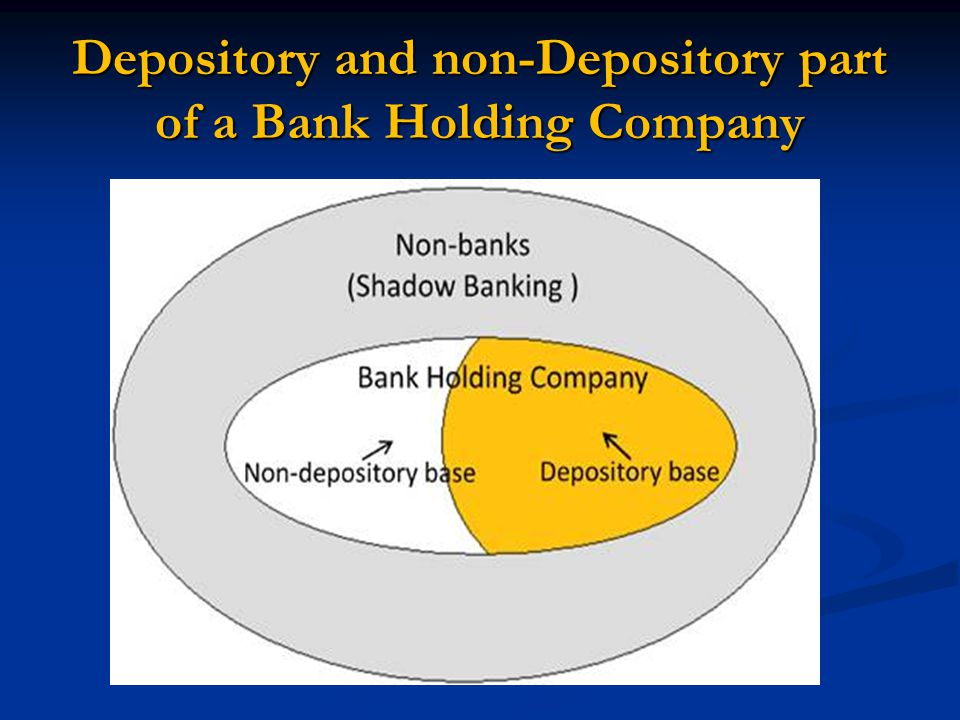 Depository and non-Depository part of a Bank Holding Company
