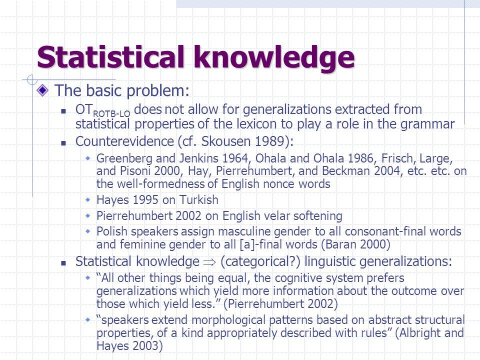 Statistical knowledge