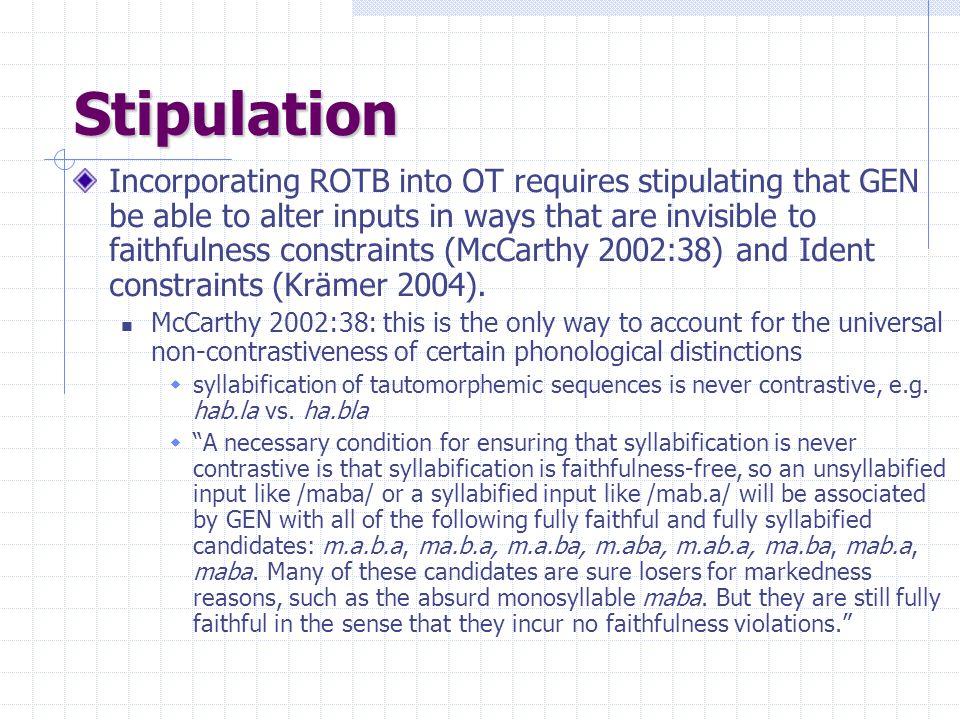 Stipulation
