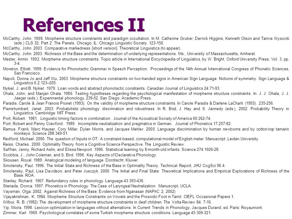 References II