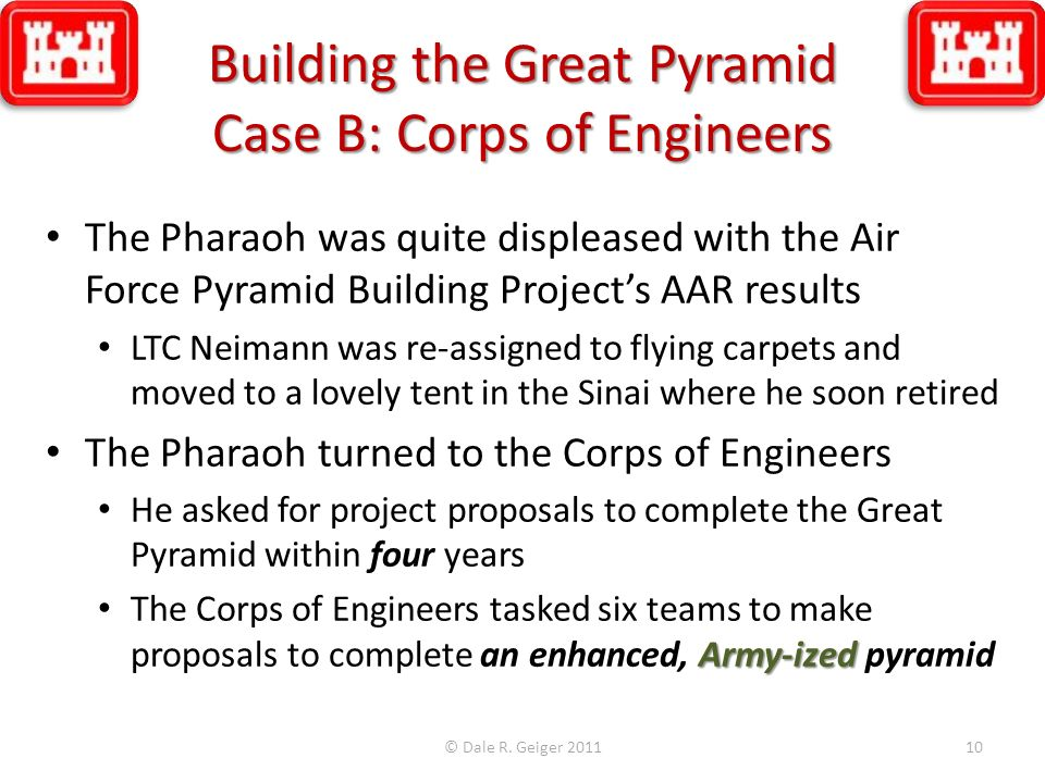 Building the Great Pyramid Case B: Corps of Engineers