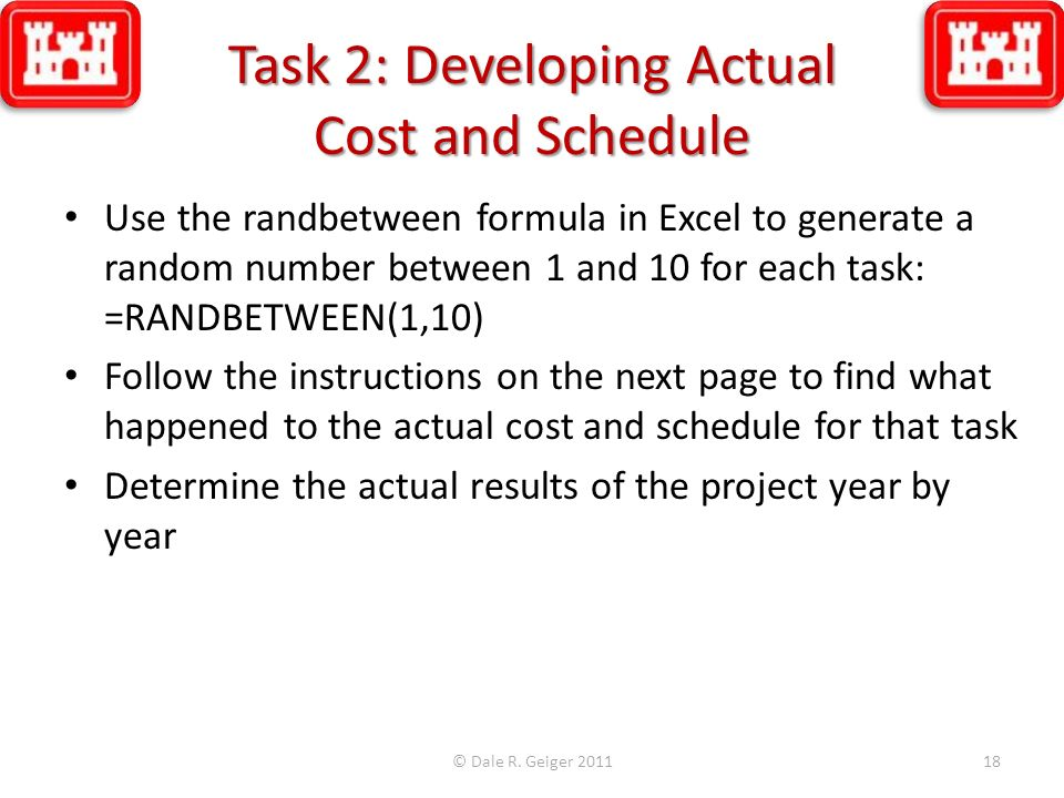 Task 2: Developing Actual Cost and Schedule