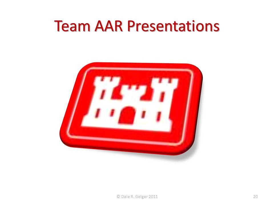 Team AAR Presentations
