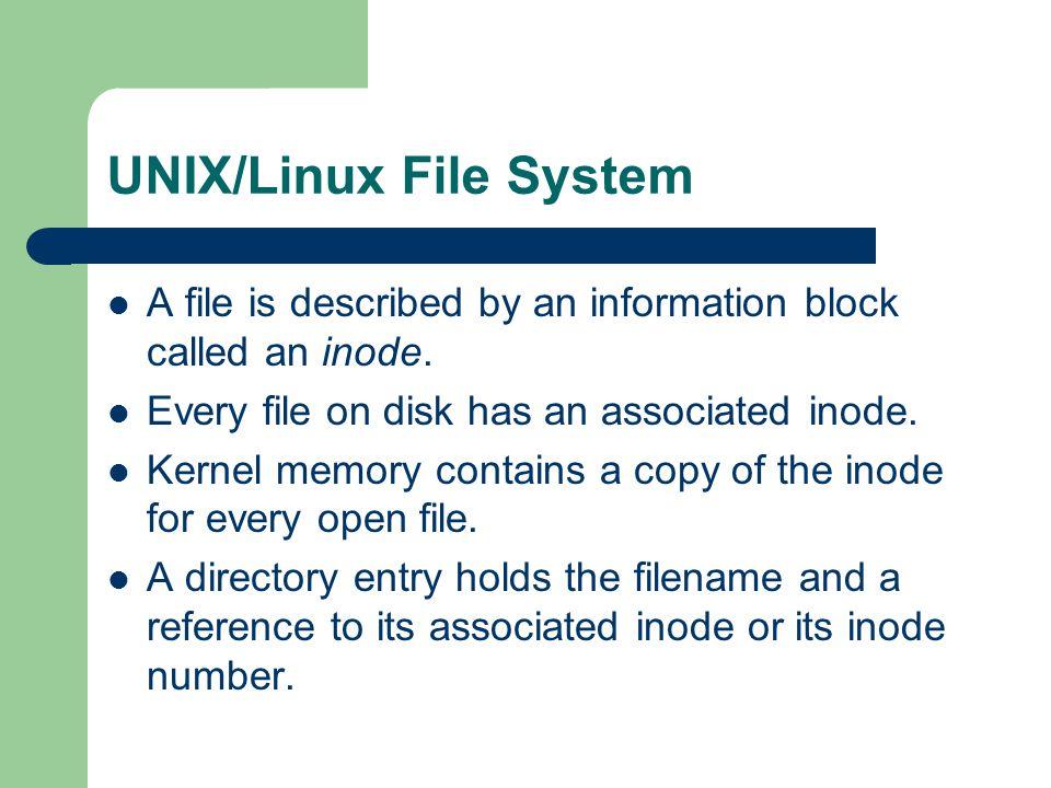UNIX/Linux File System