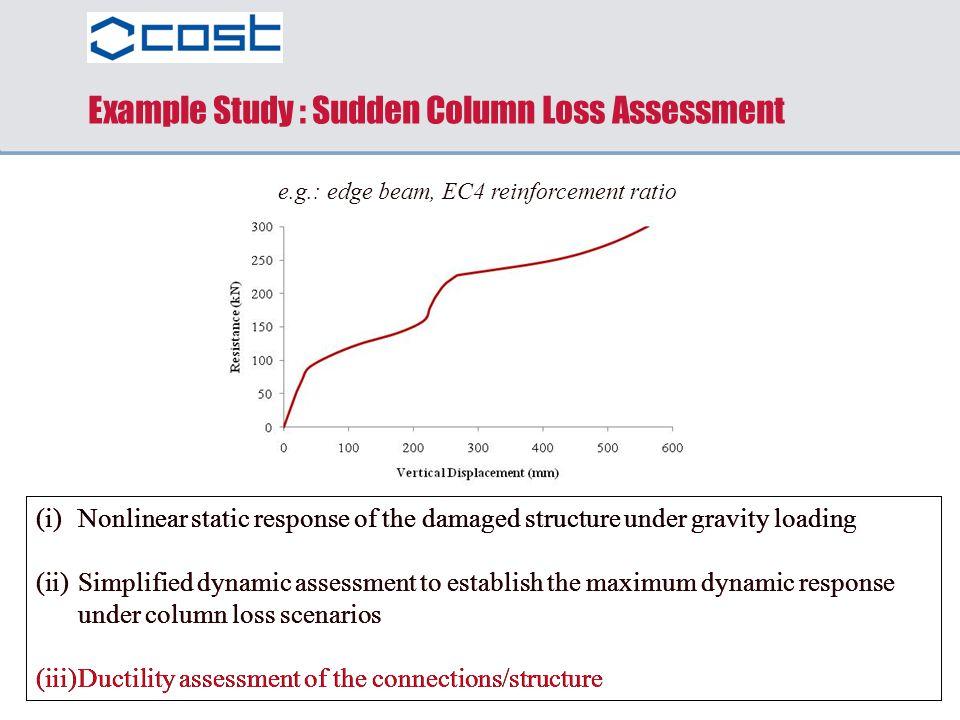 Example Study : Sudden Column Loss Assessment