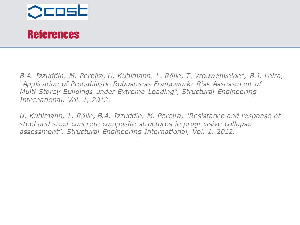 References B.A. Izzuddin, M. Pereira, U. Kuhlmann, L. Rölle, T. Vrouwenvelder, B.J. Leira,