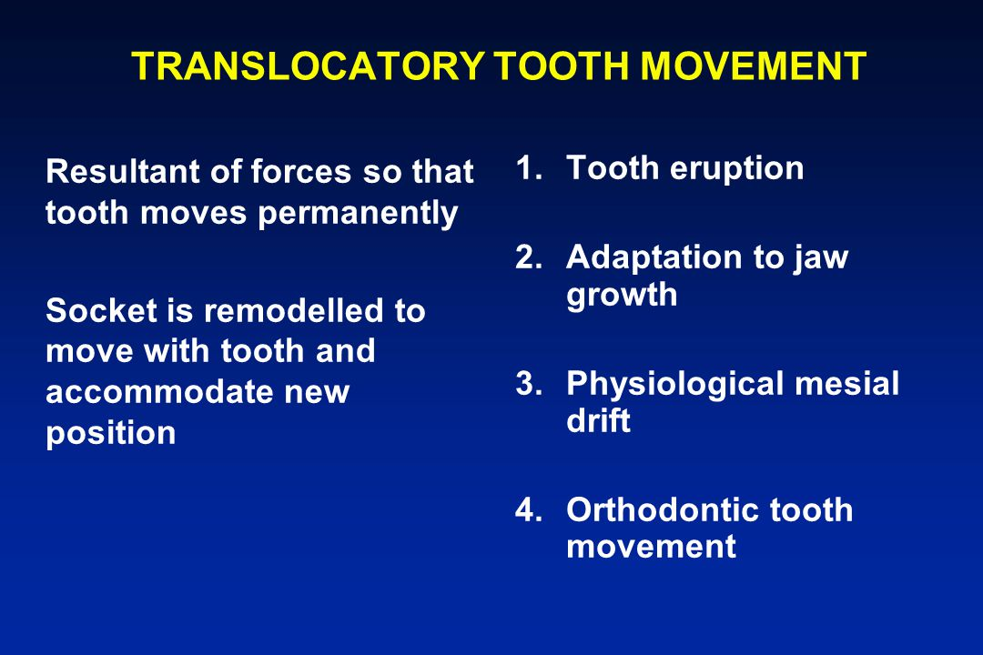 TRANSLOCATORY TOOTH MOVEMENT