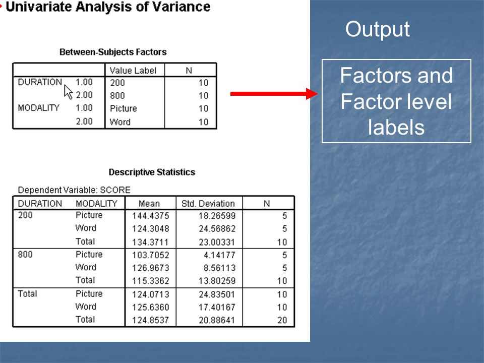 Factors and Factor level labels
