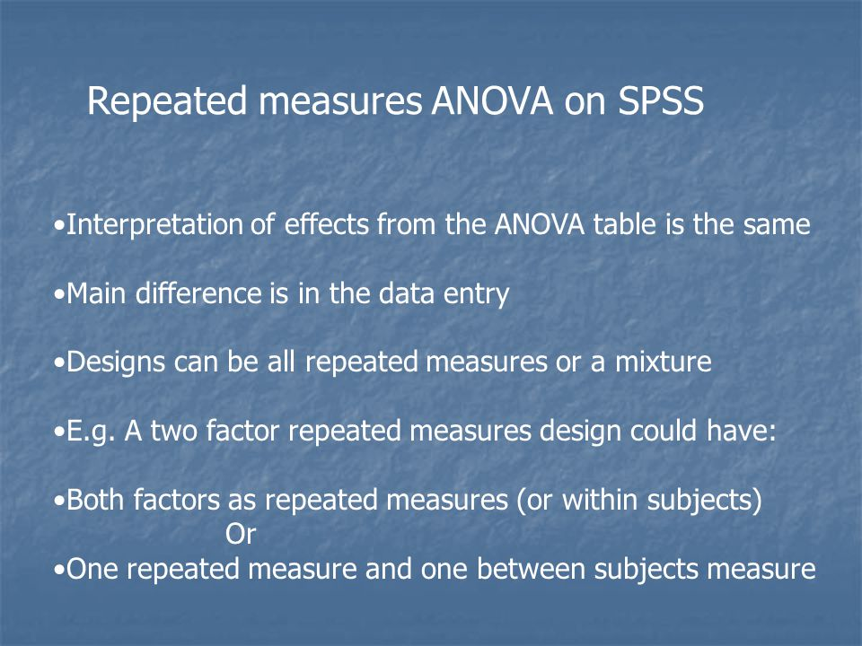 Repeated measures ANOVA on SPSS