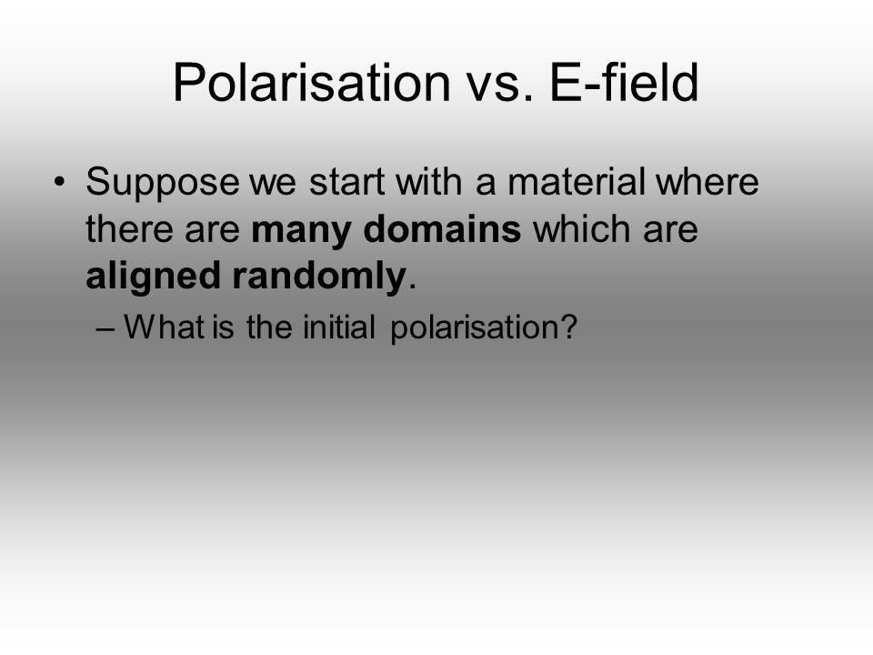 Polarisation vs. E-field