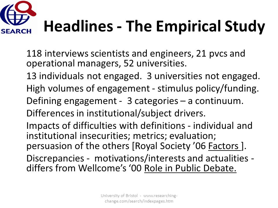 Headlines - The Empirical Study