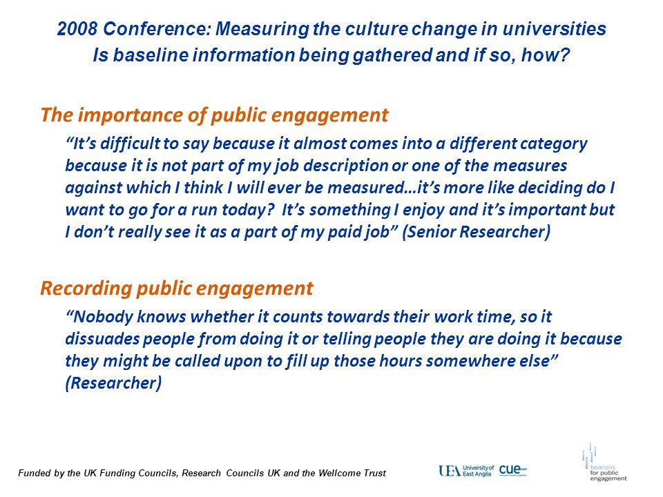 The importance of public engagement