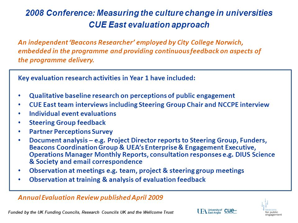 2008 Conference: Measuring the culture change in universities