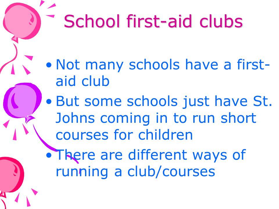 School first-aid clubs