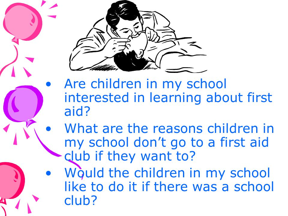 Are children in my school interested in learning about first aid