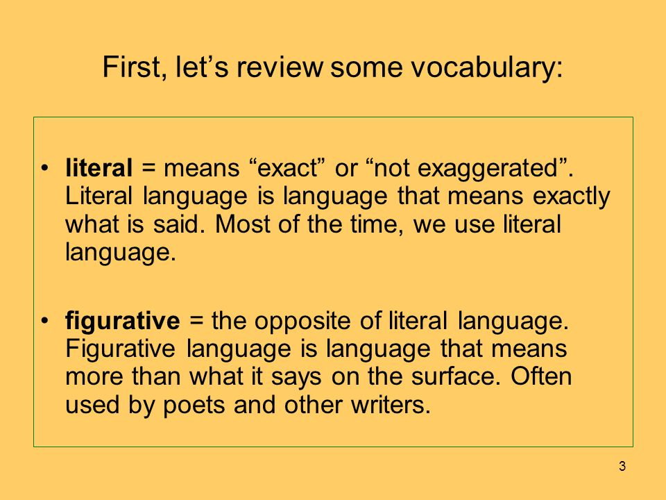 First, let's review some vocabulary: