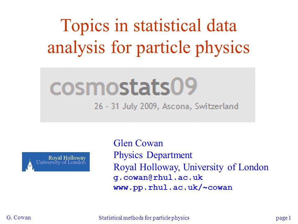 Topics in statistical data analysis for particle physics