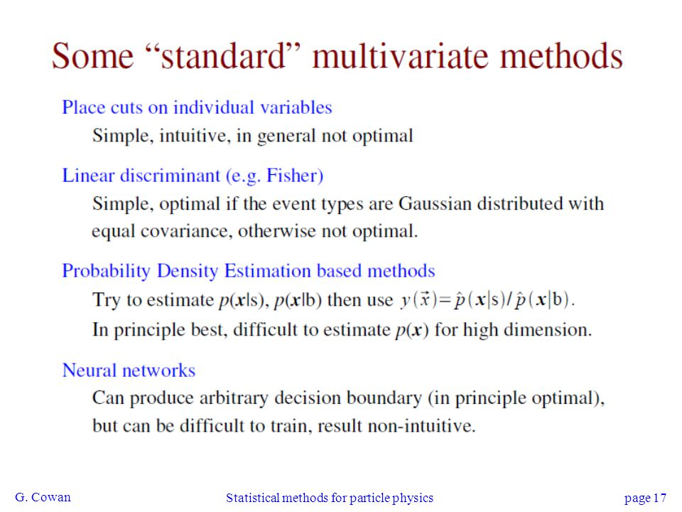 Statistical methods for particle physics
