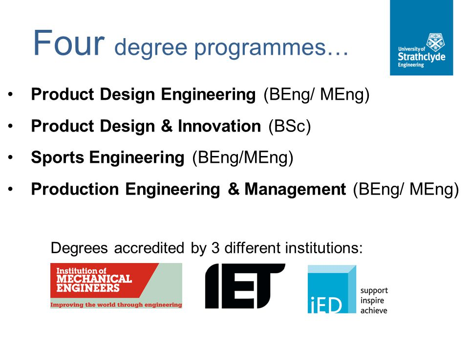 Four degree programmes…