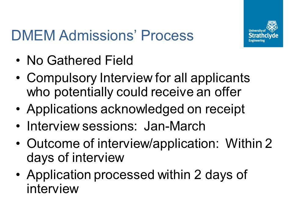 DMEM Admissions' Process
