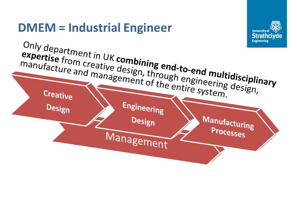 DMEM = Industrial Engineer