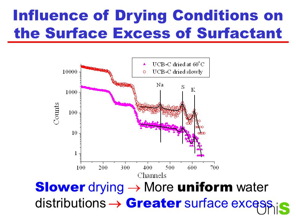 Influence of Drying Conditions on the Surface Excess of Surfactant