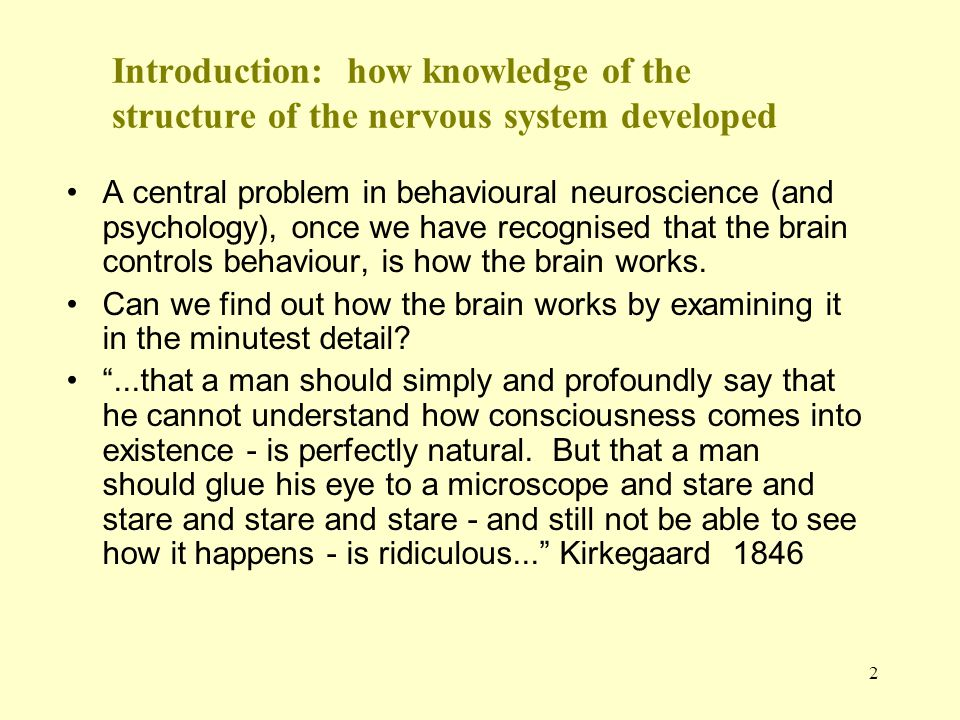 Introduction: how knowledge of the structure of the nervous system developed