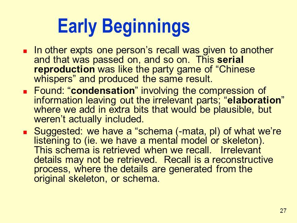 Early Beginnings