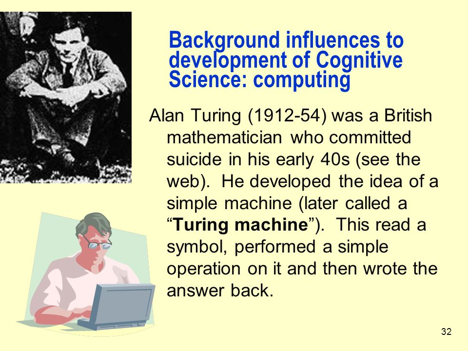 Background influences to development of Cognitive Science: computing
