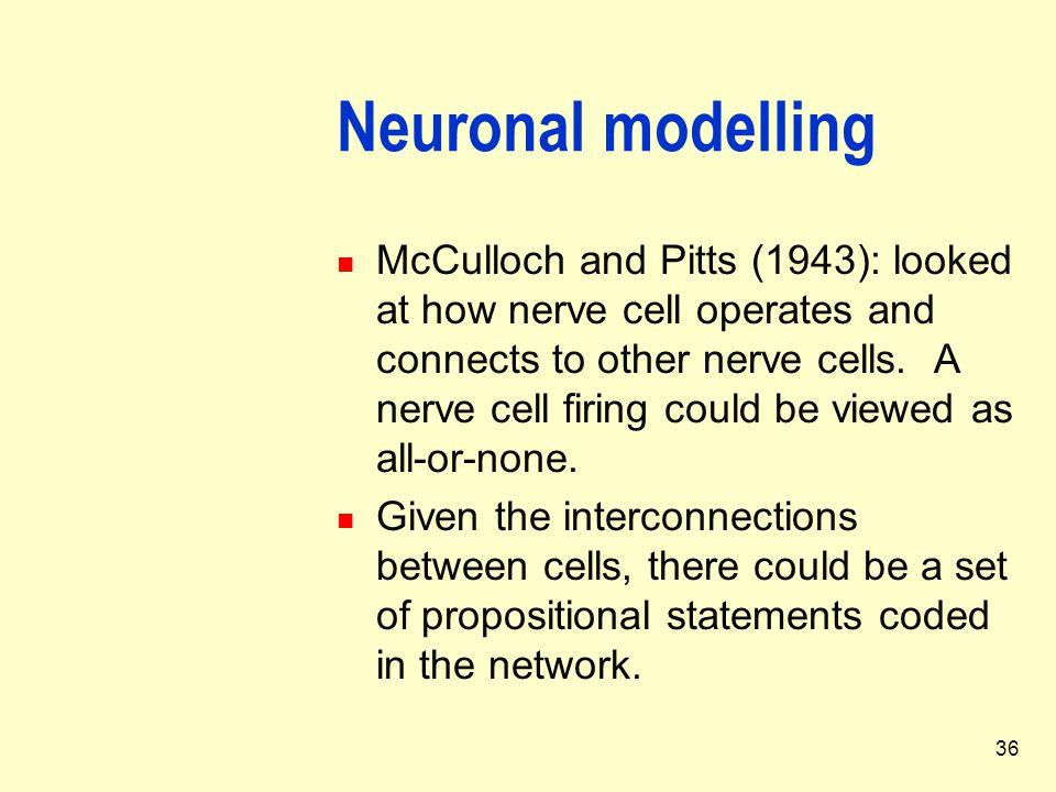 Neuronal modelling
