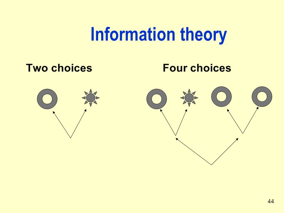 Information theory Two choices Four choices