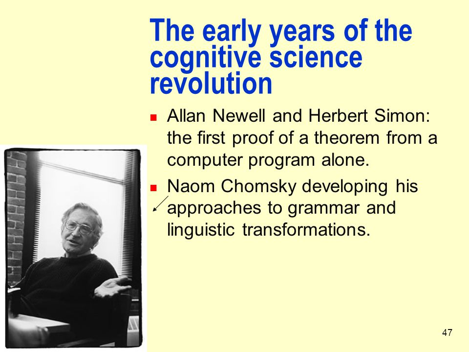 The early years of the cognitive science revolution