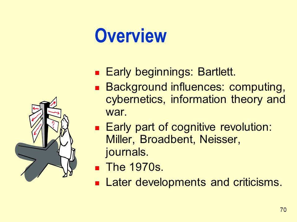 Overview Early beginnings: Bartlett.