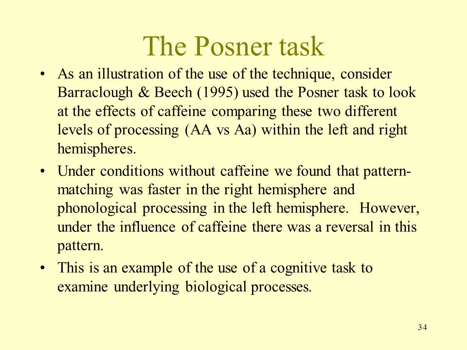 The Posner task