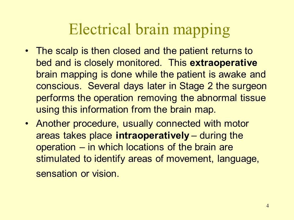 Electrical brain mapping