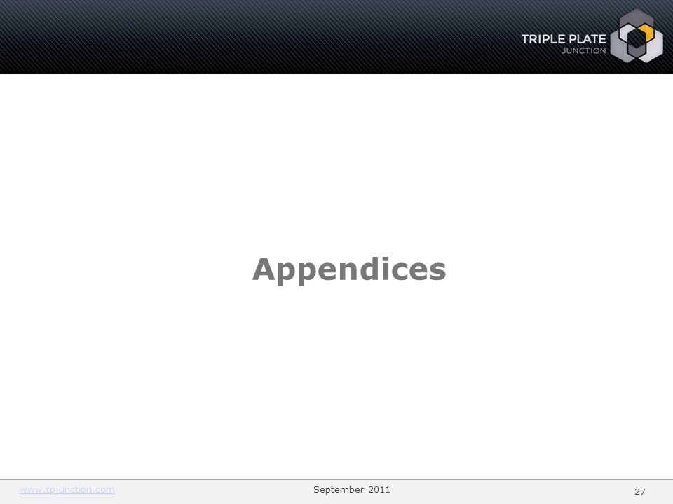 2727 Appendices