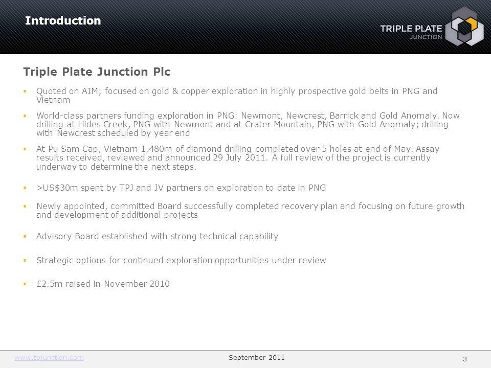 Triple Plate Junction Plc