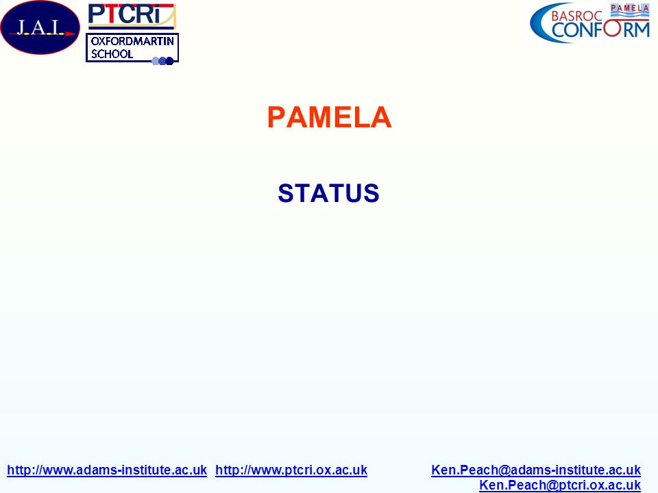 PAMELA STATUS