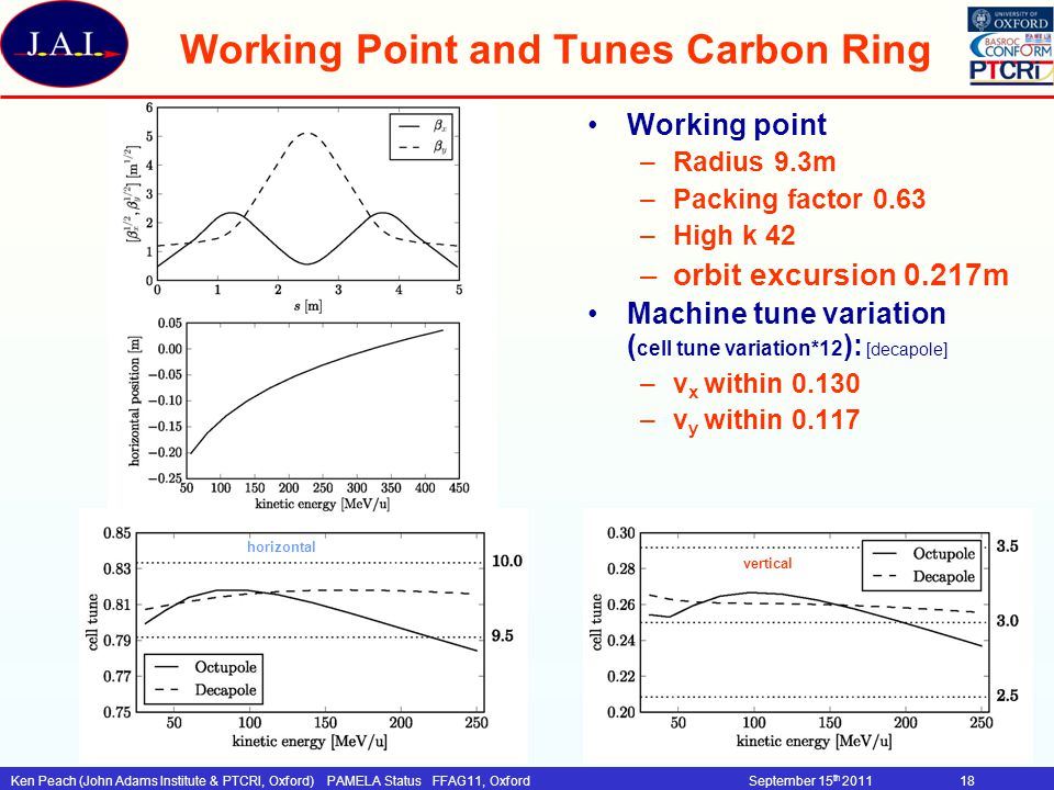 Working Point and Tunes Carbon Ring
