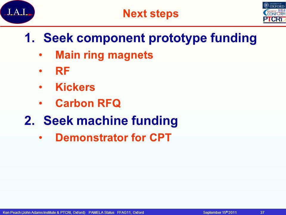 Seek component prototype funding