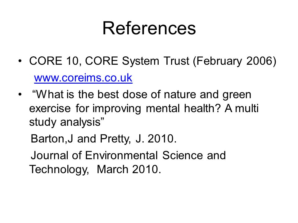 References CORE 10, CORE System Trust (February 2006)