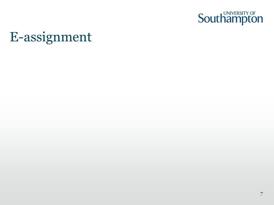 E-assignment
