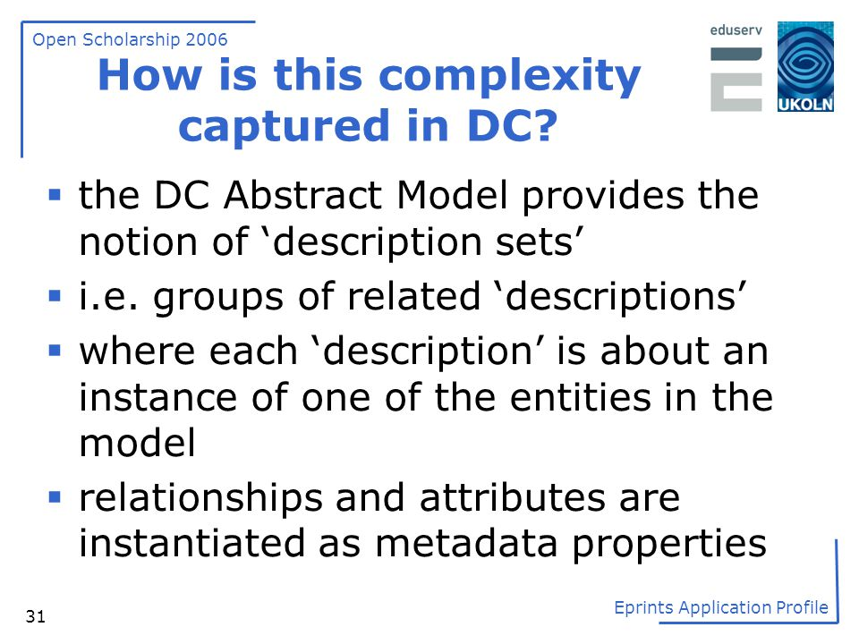 How is this complexity captured in DC