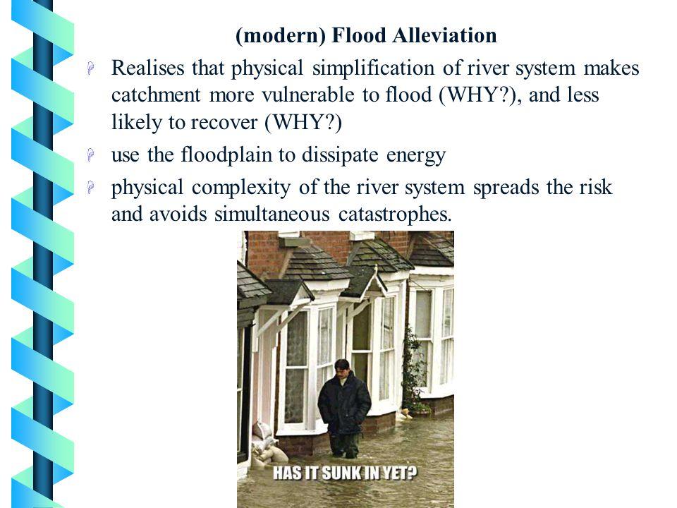 (modern) Flood Alleviation