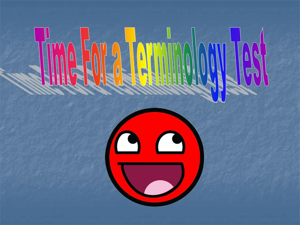 Time For a Terminology Test
