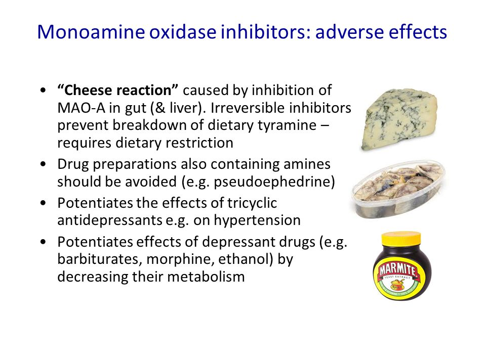 Monoamine oxidase inhibitors: adverse effects